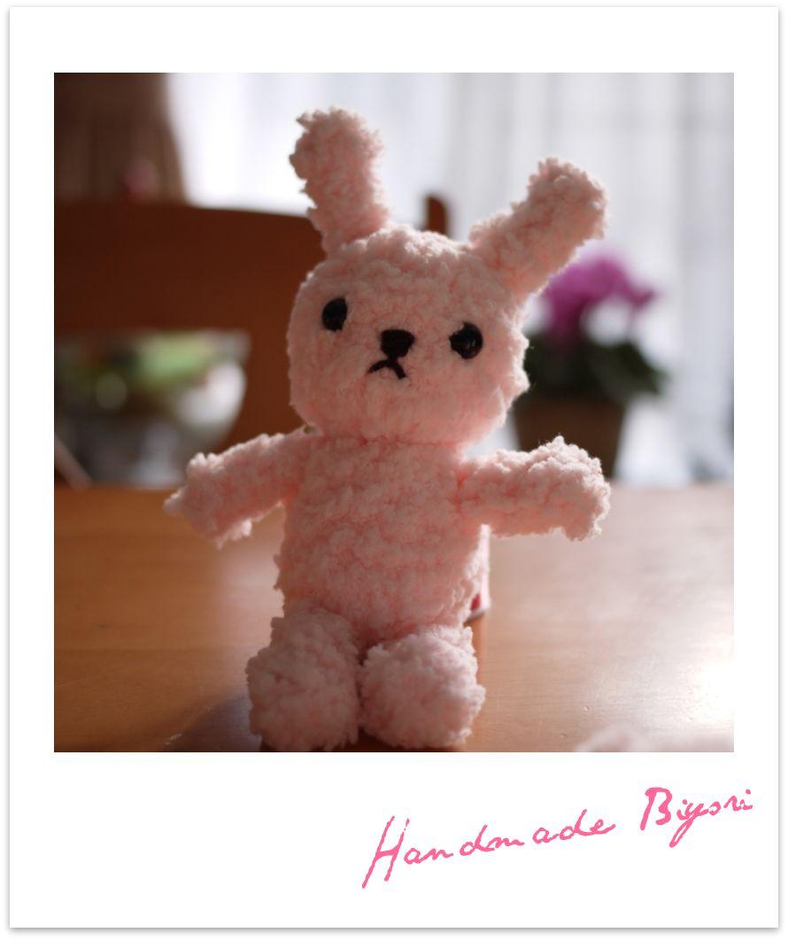 編みぐるみ☆ピンクうさぎ
