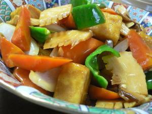 高野豆腐酢豚風