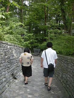 石の教会まで行く途中