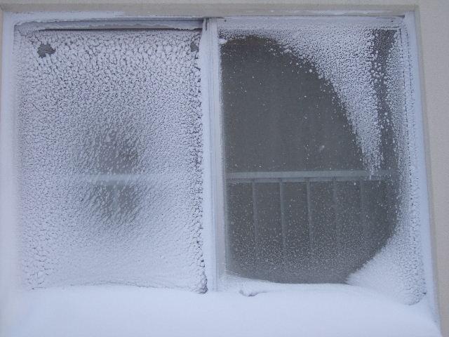 窓が・・・こんなです。