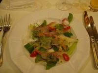 前菜、鯛のカルパッチョ