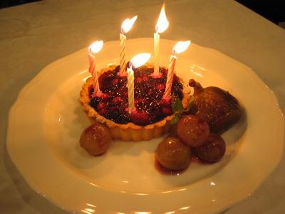 お祝いケーキありがとう
