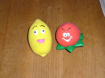 イチゴちゃんとレモンちゃん