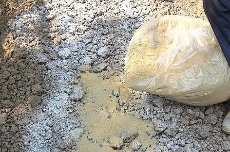 糠と有機石灰で♪
