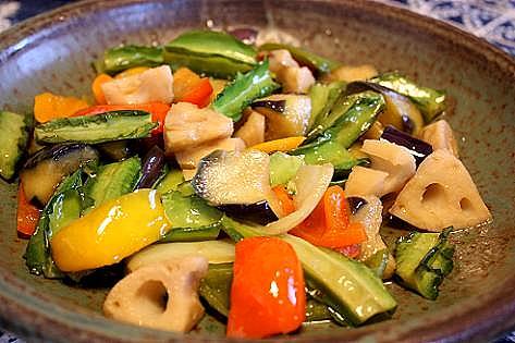 彩り野菜の揚げ浸し♪