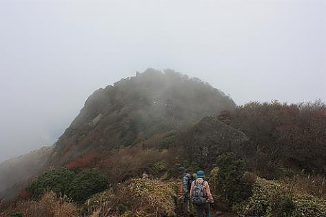 霧の沓掛山♪