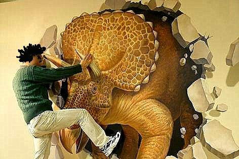 恐竜を止めるトマオ♪