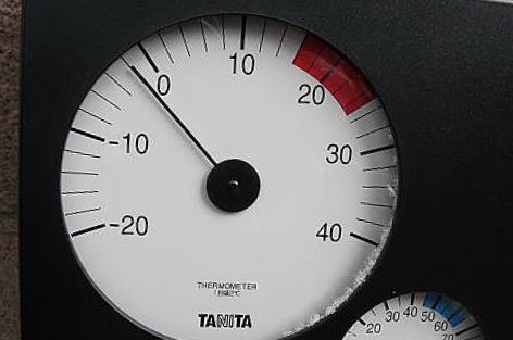 午後一時で-2℃♪