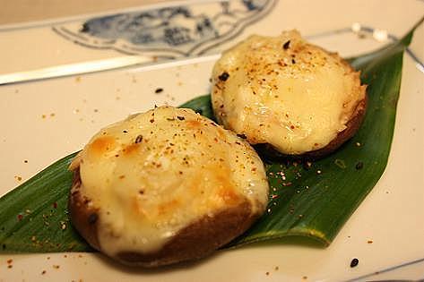 椎茸のツナチーズ焼き♪