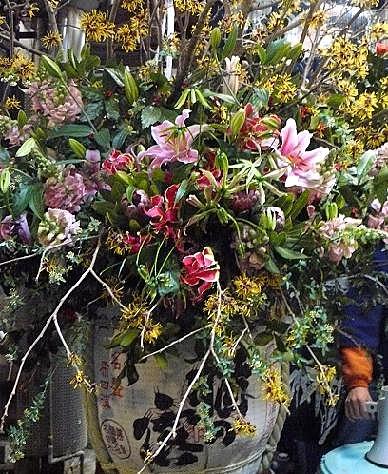 酒樽のお花♪