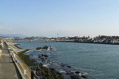 遠賀川の河口♪