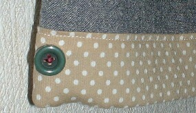 ブルーパンツ裾