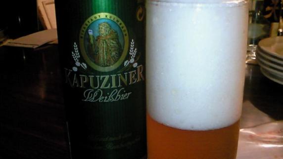 珍しく缶ビール