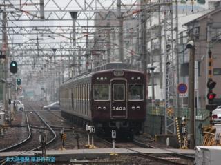 阪急京都本線 局地豪雨 6