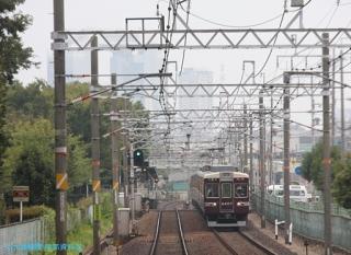 阪急京都本線 局地豪雨 7