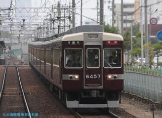 阪急京都本線 局地豪雨 8