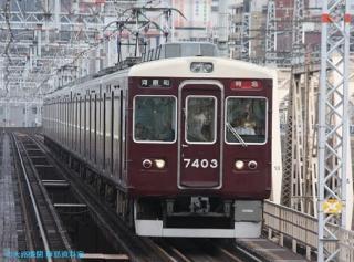 阪急京都本線 局地豪雨 10