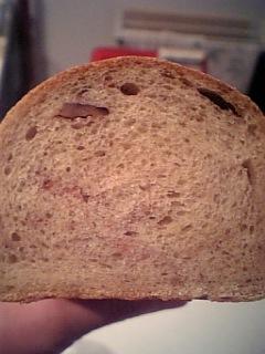 豆乳黄な粉パン断面