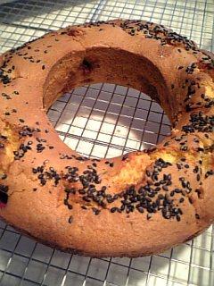 紫芋と胡麻のケーキ
