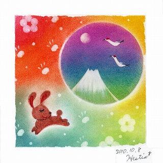 101.ウサギと富士