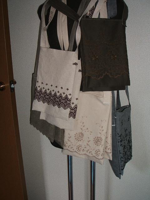スカラップレースのバッグたくさん!