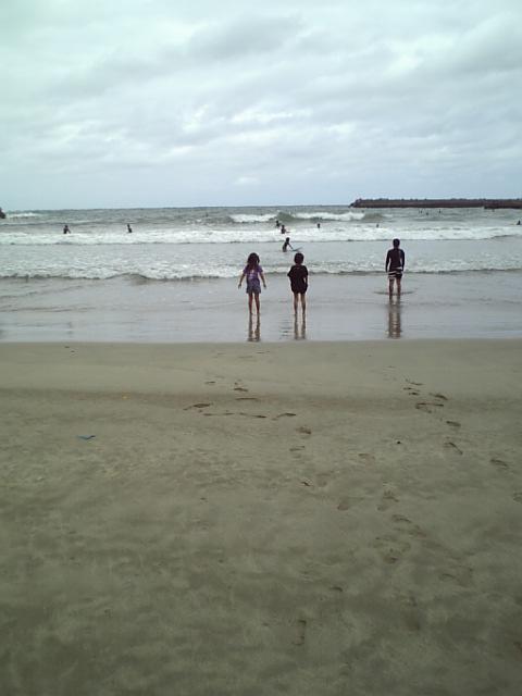浜坂の海岸にて