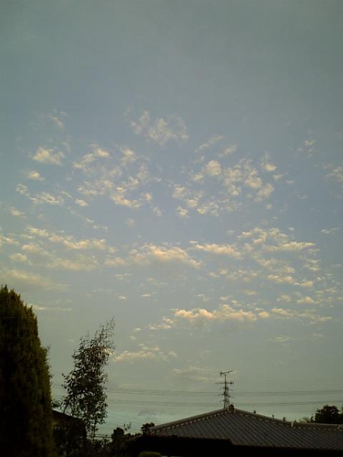 8月28日の夕焼け空