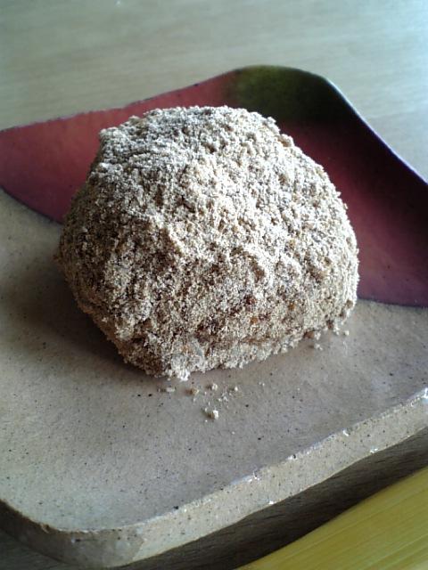 玄米おはぎはったい粉