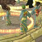 盆踊り大会の模様