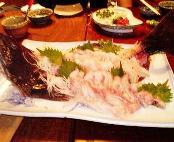 ヒラメ刺身2