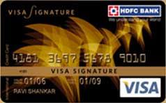 HDFC(インド最大の金融機関) Visa Signature カード