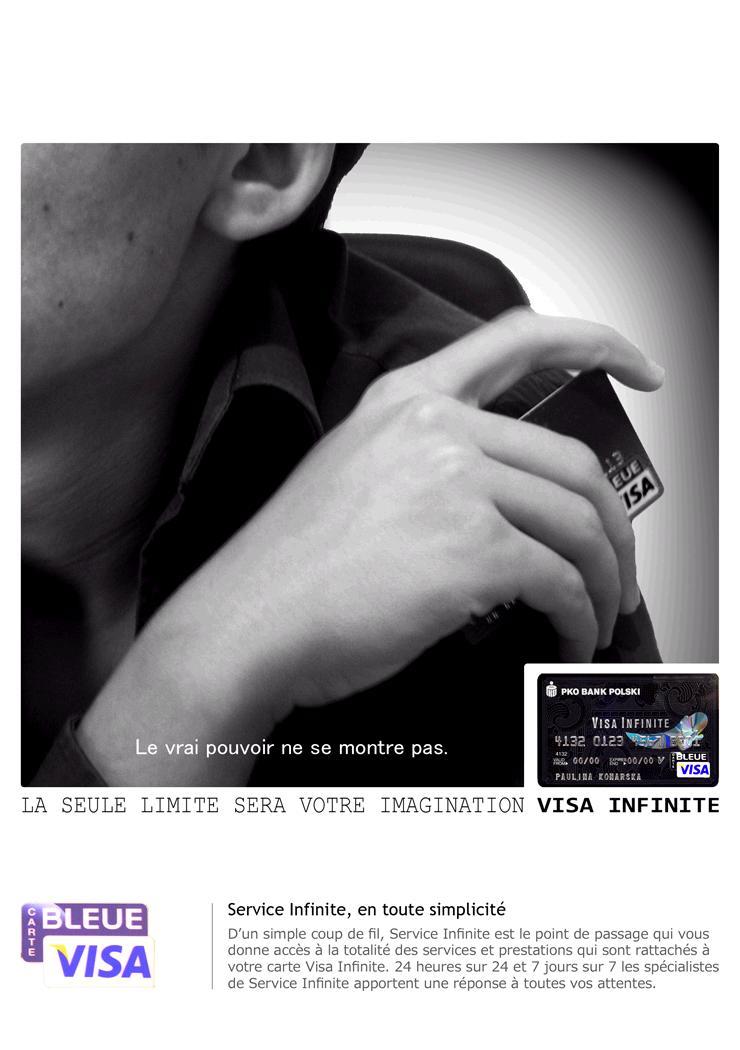 pko銀行(ペカオと読む。ポーランド二大銀行のひとつ)発行のVisa Infinite カードの広告