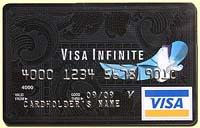 香港でVISA INTERNATIONAL(アジア・パシフィク地域)が発行しているでのVisa Infinite カード。