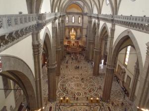 大聖堂の2階?から