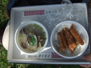 081010あさり汁・さんま丼