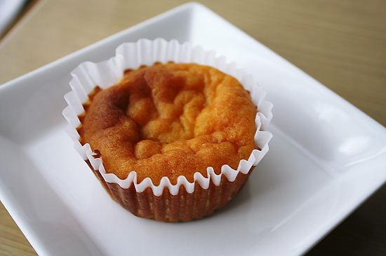 スィートポテトケーキのアップ