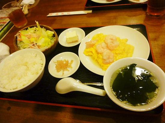 卵とエビの炒め物