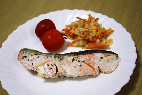 鮭のヨーグルトソテー
