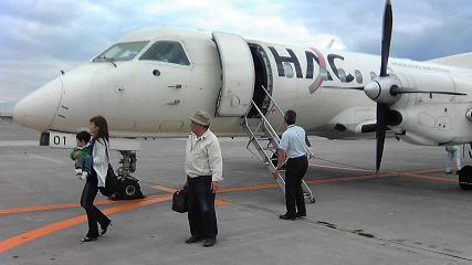 さすがにこの飛行機は恐かった^^;