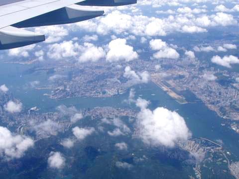 上空からの香港