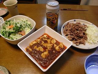 9月19日 麻婆豆腐&生姜焼き