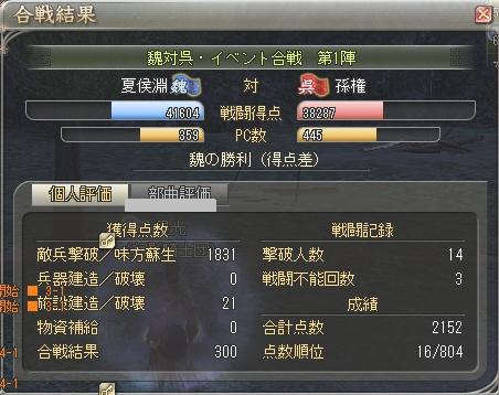 イベント戦(2.06)-第1陣:草原(妖術)