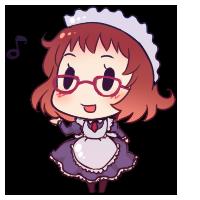 眼鏡っ娘でおでこちゃん+正統派メイドでマニアック度高し!です!