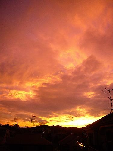 写真を撮ってる間に、もとの空はこんな感じ