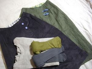 ラップスカート2色