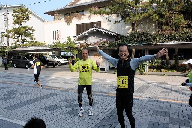 マラソン参加者の同級生T様