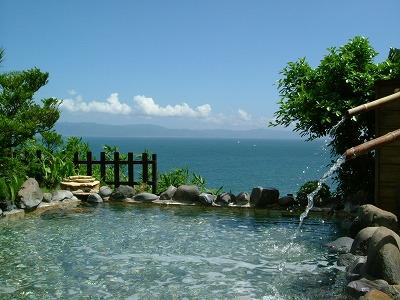 眺め抜群の露天風呂