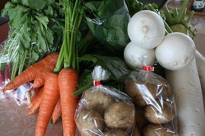 地元の新鮮獲れたて野菜