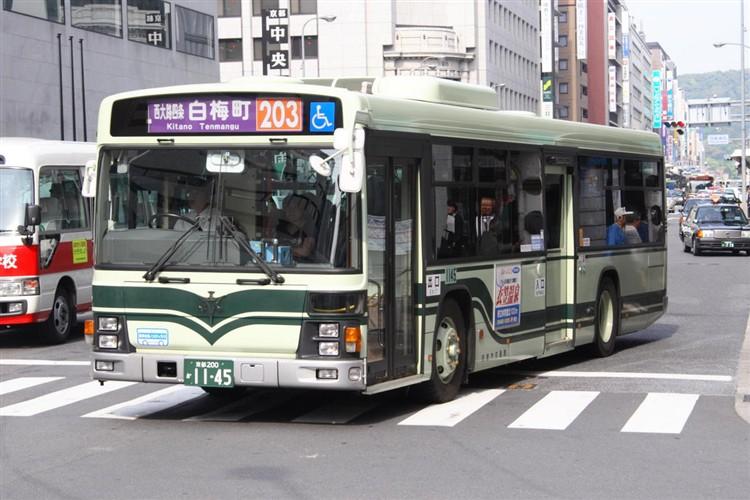 京都市バス 京都200か1145 いすゞPJ-LV234N1