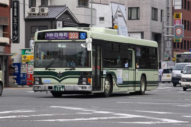 京都市バス 京都200か1146 いすゞPJ-LV234N1